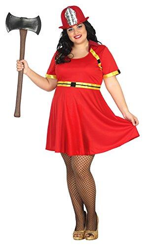 Atosa 31480-Pompiere Donna, Costume da Donna, Taglia XXL, 44/46