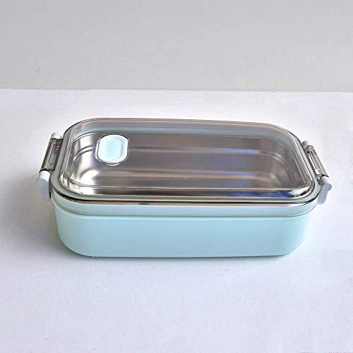 GJNVBDZSF Caja de Almuerzo, Fiambrera de Acero Inoxidable Contenedores de Comida portátiles de 900 ml de Capacidad Adultos Señora