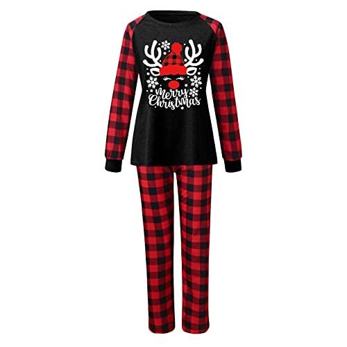 Pigiama di Natale unisex con alce e pigiama, pigiama per Natale, per la casa, per Natale, per la casa, per Natale e per la famiglia