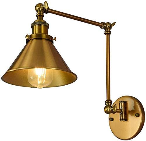 Meixian Wandlamp, E27, industriële zwenkarm, LED-retro, instelbare metalen wandlamp voor eetkamer, bar, café, wandlamp, eenvoudig retro
