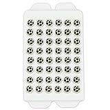 Backdekoration Zucker-Fußbälle | Ø ca. 9mm/Deko-Teil - 48 Stück in der 8g Packung | Prima Streudekoration aus Zucker für Siegertorten und mehr - Backdekor passend zur Fußball-WM