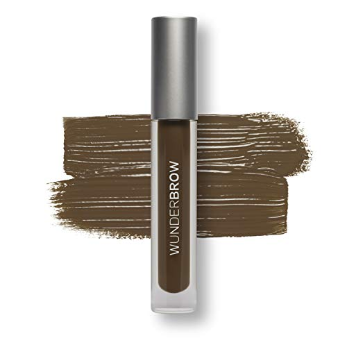 WUNDER2 WUNDERBROW Waterproof Eyebrow Gel for Long Lasting Makeup, Black/Brown
