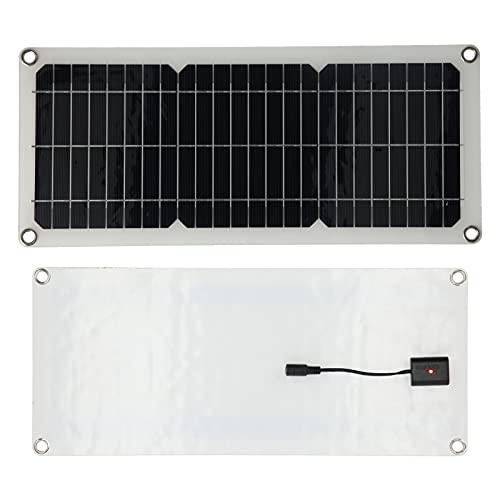 WNSC Panel Solar, diodo Integrado Panel Solar Ligero Cargador de batería IP65 Salida USB a Prueba de Agua para Barcos para el hogar para Coches