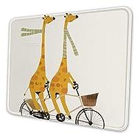 キリン 自転車 マウスパッド 21 X 26cm 滑り止め 防水 おしゃれ 洗える ビジネス用 家庭用 ゲーム用