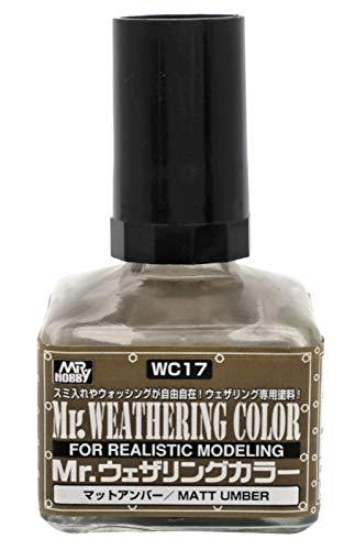 GSIクレオス Mr.ウェザリングカラ- マットアンバー 40ml 模型用塗料 WC17