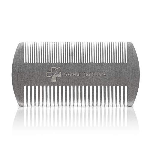 General Healthcare Haarkamm aus Edelstahl, für Läuse, Haare, Bart