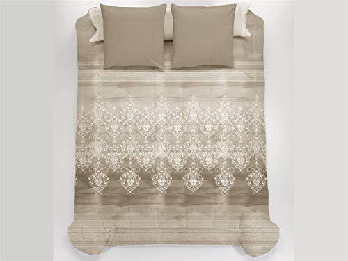 JAVIER LARRAINZAR Edredón Conforter Corinto 150-Color Beig, Cama 150 cm