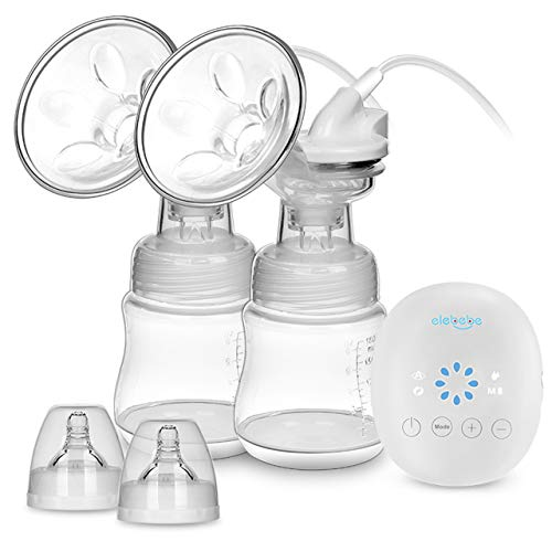 Double Breast Pump -Breast Pump Kit, Quiet & Hygienic, 8 Adjustable Suction Levels & 4 Modes,...