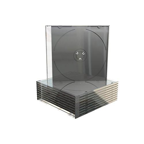MediaRange BOX21-M Leerbox für CD (50-er Stück) schwarz