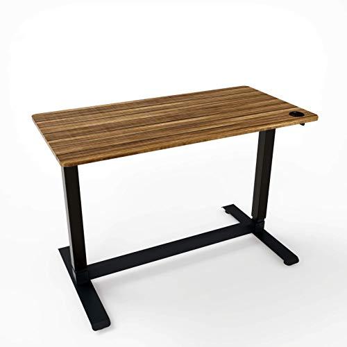Kraftdale Home Office Electric Height Adjustable Desk Sit Stand Desk with One Piece Desktop, 48' x 24', Dark Walnut