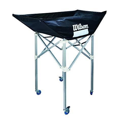 Wilson WTH180300 Carrito Plegable Voleibol Capacidad para 24 balones con Ruedas Interior...
