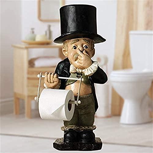 HUILAIBA Toiletten-Butler Mit Rollenpapierhalter, Toiletten-Butler Mit Rollenpapierhalter, Super SüßEs Spoof Toilettenpapier Harz Ornamente FüR Badezimmer L