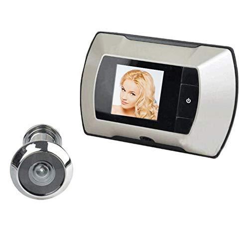 YBZS Haustürklingel Kamera,Mini 2.4 Zoll-Digitalkamera-Türklingel-LCD-Bildschirm 100 Grad Cat Eye Sucher Kamera Auge Video Outdoor Log-Türklingel