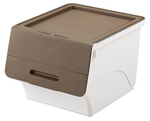 サンカ 収納ボックス フロック 30 ブラウン / ホワイト 色 (幅38.5×奥行46×高さ31cm) squ+ fr-30BR/WH 日本製