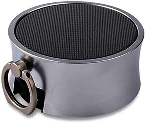 Mopoq Drahtlose Bluetooth-Lautsprecher - bewegliche Mini-Karte Kleiner Ton Metall Kanone Subwoofer-Computer Externer Musik-Player-Auto-Lautsprecher (Color : E)