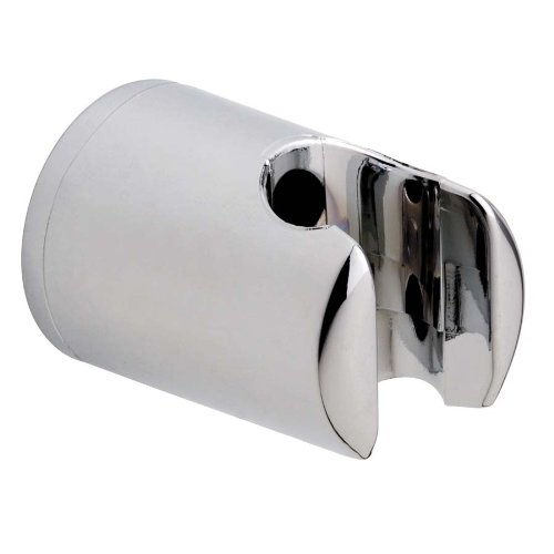 Nooit meer boren Spaa douchekophouder, verchroomd, gegarandeerd roestvrij, wandmontage zonder boren, incl. kleefoplossing, 40mm x 40mm x 58mm