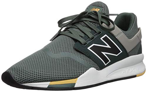 New Balance 247v2, Sneaker Uomo, Verde (Faded Rosin/Black Fa), 36 EU