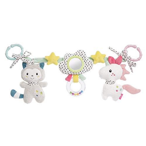 Fehn Aiko & Yuki 057157 - Cadena para cochecito de bebé, con figuras para colgar en cochecito, capazo, cuna, arco de juegos para bebés y niños pequeños a partir de 0 meses