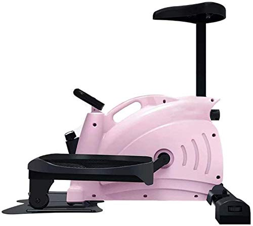 JWCN Stepper Step Machine mit LCD-Monitor Magnetisches Mini-Heimtrainer Mini Elliptical Stride Trainer Pedal Exerciser Stepper-Rosa Uptodate