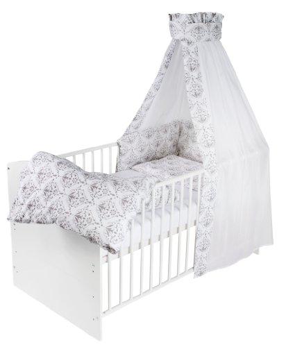 Schardt Lit d'Enfant Complet Classic Line Blanc Ornaments Grey