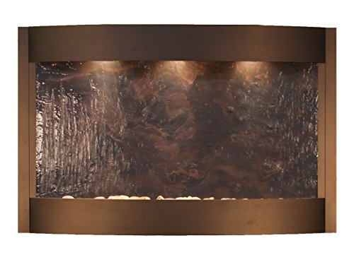 Calming Waters Water Feature with Multi-Color Featherstone (Antique Bronze)