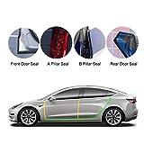 Tesla Model 3 Model Y Door Seal Kit Soundproof Rubber Weather Draft Seal Strip Wind Noise Reduction Kit Fit Model 3 2016-2021 Model Y 2020 2021