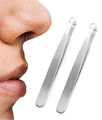 Pinzette per rifinire i peli del naso universali Pinzette per tagliare i capelli in acciaio inossidabile per sopracciglia, forbici per toelettatura a testa tonda Tagliacapelli per sopracciglia (2PCS)