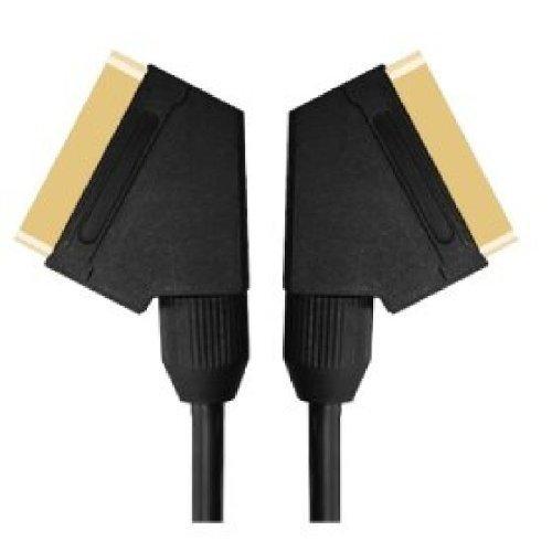10m Scart-Kabel - Premium-Qualität - 24k gold - komplett verdrahtet - geschirmt - 21-pin - Audio - Video - Stecker-Stecker