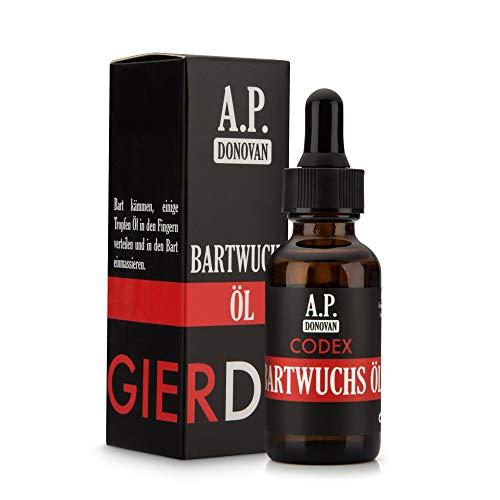 A.P. Donovan – Bartwuchsöl | Bartwuchsmittel für Männer | Öl zur Förderung des Bartwuchs | 30ml | CODEX Bartpflege-Serie