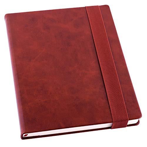 Taccuino Nils, a righe, con copertina rigida, colore: rosso