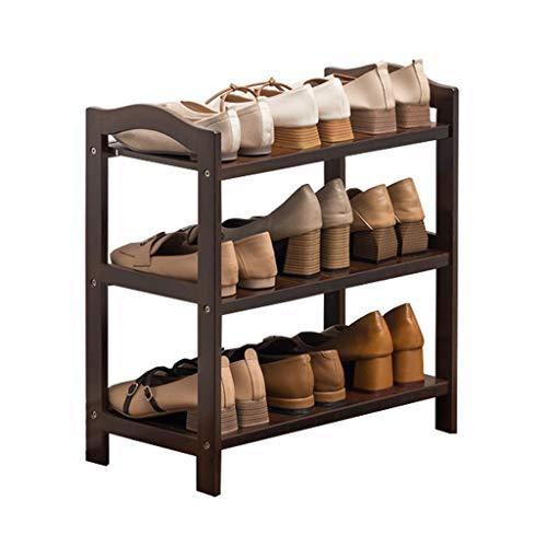 DAGCOT Zapatero El Estante for Zapatos de múltiples Capas de bambú Tiene Capacidad for múltiples Pares de Zapatos y es Ideal for Jardines de Entrada (Color : 3 Layers, Size : S)