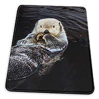 マウスパッド カワウソ 泳いでいる ゲーミングマウスパット デスクマット 最適 高級感 おしゃれ 滑り止めゴム底 防水設計 複数サイズ