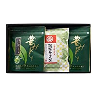 豊みどりプライムティーバッグとお茶うけセット〔ティーバッグ(2g×12P)×2・豆菓子(80g)×1〕
