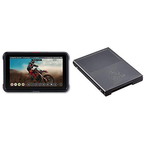 Atomos Ninja V 5 Zoll 4K HDMI Recorder und ATOMCAD112 Master Caddy II Festplattengehäuse (5er Pack)
