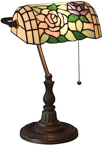 Longan Wine Rose Bay Light Tiffany Style Table Light Color Color Vidrio Landshade Iluminación Sala de estar Dormitorio Dormitorio Escritorio Café Bar Decoración 11 pulgadas