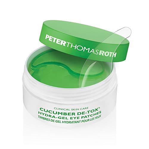 Peter Thomas Roth Roth Cucumber Detox Hydra-Gel Eye Patches 30 Pairs60 Tapones para los oídos, 4 cm, Negro (Black)