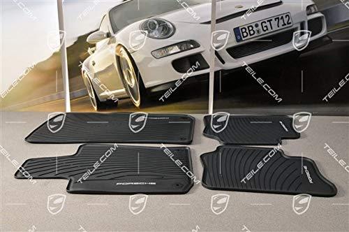 NEU+ORIG. Porsche Panamera G1/970 Fussmatte Gummi Satz 4Teile schwarz/Floor mats