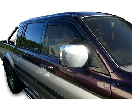 J&J AUTOMOTIVE Windabweiser Regenabweiser für Mitsubishi L200 5-türer 1999-2006 2tlg HEKO dunkel