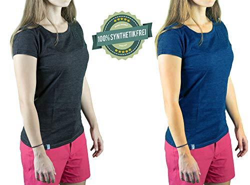 Alpin Loacker Premium Merino T-shirt voor dames - 100% beste merinowol, 17.5 Micron - Het Merino ondergoed voor alle activiteiten!