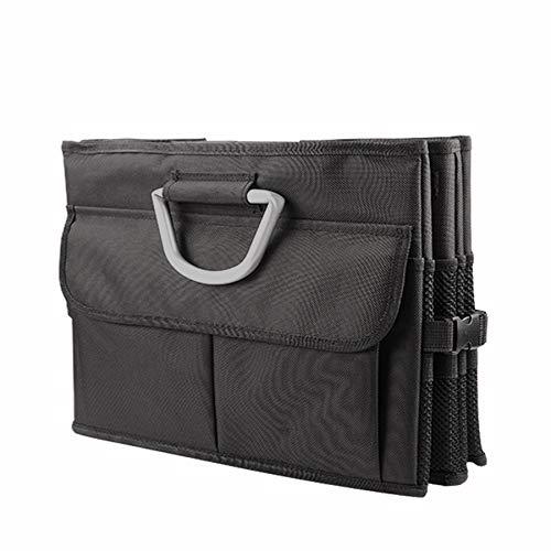 SeaRoverr Kofferraum Organizer Oxford-Polyester Faltbox Kofferraumtasche Tragbare Box mit zwei Fächern mit 8 zusätzlichen Taschen für Auto, Kofferraum, Minivan, SUV Lagerung, Haltbar und wasserdicht