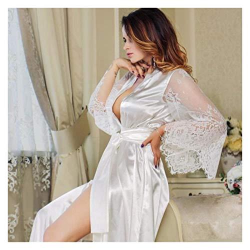 Frauen reizvolle transparente Spitze mit tiefem V-Ausschnitt Pyjamas Unterwäsche...