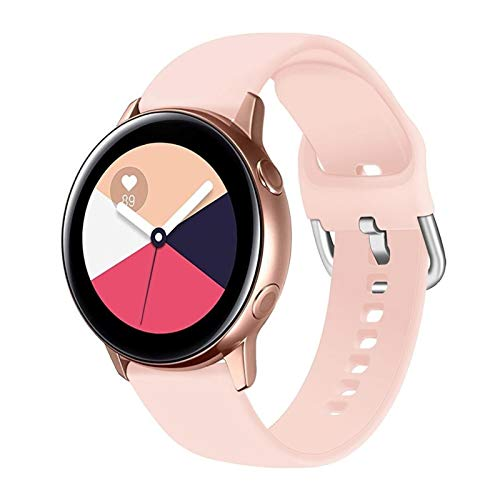 Flyuzi 20 / 22mm Strap para Samsung Galaxy Watch 3 45mm 41mm Active 2 46mm 42mm Gear S3 Wamkband Pulsera para Huawei Smart Watch GT 2 Pro (Band Color : Pink Sand 2, Band Width : 20mm L)