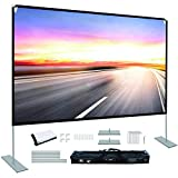 Projector Screen with Stand 100 inch Portable Projection Screen 16:9 4K HD Rear Front...