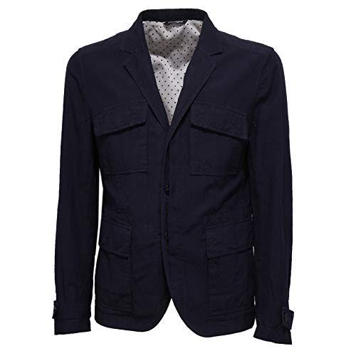 Dolce & Gabbana 2417X Giacca Uomo Blue Cotton/Linen Jacket Men [56]