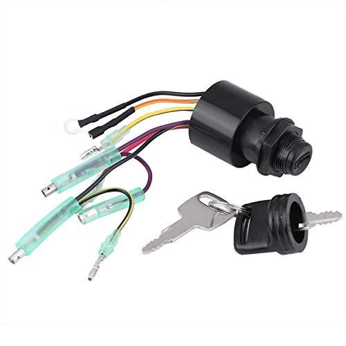 Interruptor de encendido duradero confiable sin empalmes de cables Interruptor de llave de encendido negro para Mercury Reemplazo directo para la caja de control remoto de Mercury fuera de
