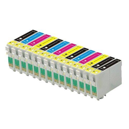 3x Cartucce Comp per Epson Stylus 1281 BK BLACK//NERO per sx425w