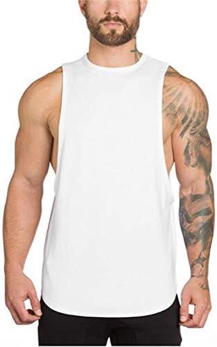 Men's Loose Vest LONG Fitness Sports Backing Elastic Top Vest Men's Fitness Training Sleeveless Muscle Shirt Fitness Vest.