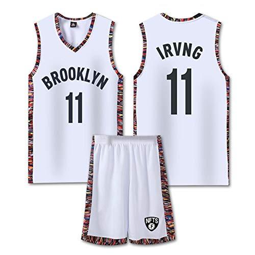 DLBJ Conjunto De Camiseta De Baloncesto para Hombre Nets # 11 Kyrie Irving, Pantalones Cortos De Camisetas Swingman, Deportivo para Ropa Deportiva Y Casual,2XL
