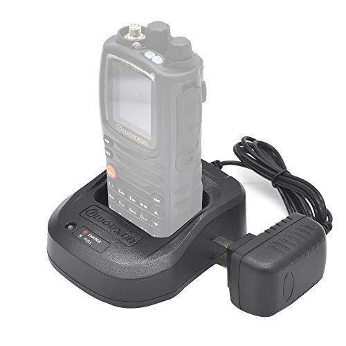 Wouxun KG-UV9D Plus - Walkie-talkie (2 m, 70 cm, doble banda, VHF, UHF, resistente al agua, IP55, con cable de programación USB y auriculares)