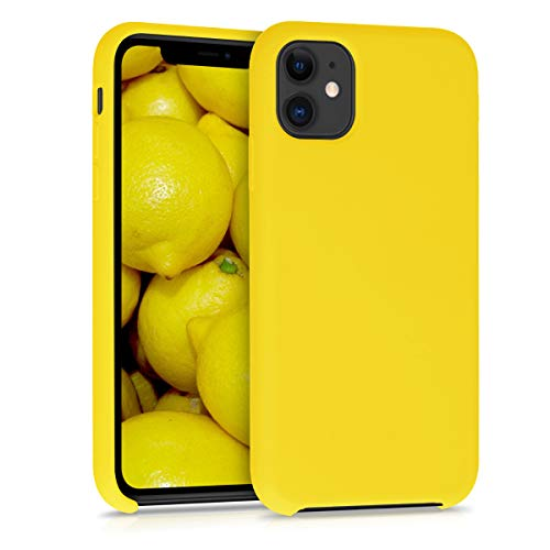 kwmobile Hülle kompatibel mit Apple iPhone 11 - Handyhülle gummiert - Handy Case in Vibrant Yellow